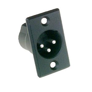 3 Pin Male XLR Panel Mount