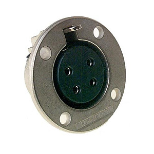 4 Pin Female Panel Mount Connector