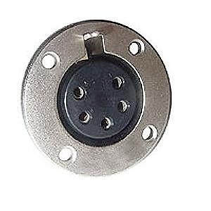 5 Pin Female Panel Mount Connector