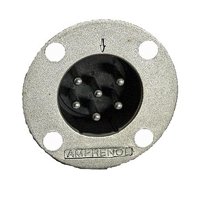 6 Pin Male Panel Mount Connector