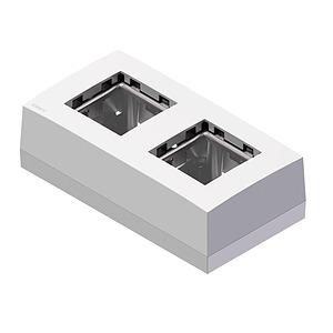 Dual Surfacemount Wallbox - White