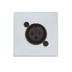 Wall Mic Input Plate (XLR) - White