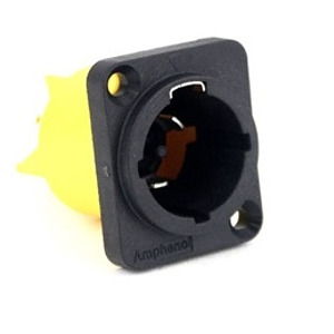 Powercon Panel Connector - Mains Out without Divider