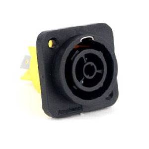 Powercon Panel Connector - Mains In without Divider
