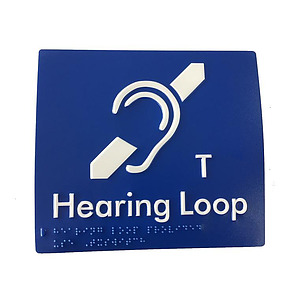 Polycarbonate Braille Induction Sign